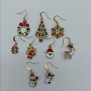 New Mixed Styles Christmas Earrings Pack of 9